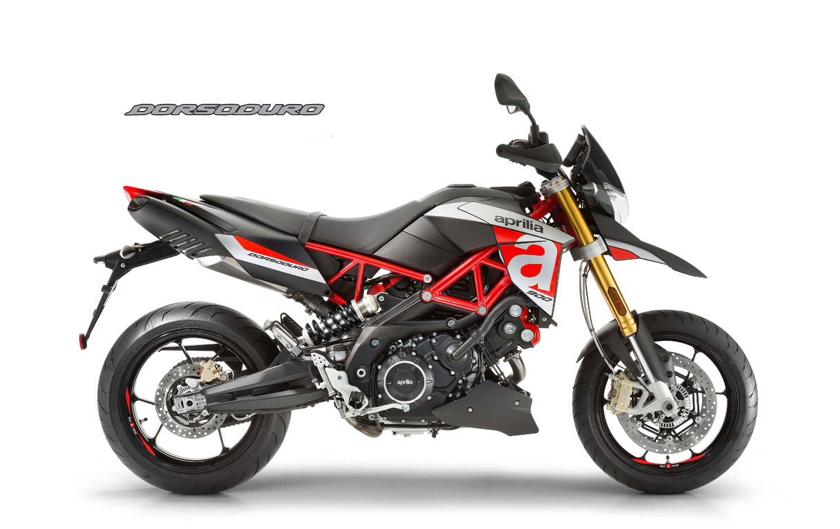 Moto modelo Shiver color rojo y negro, marca Aprilia.