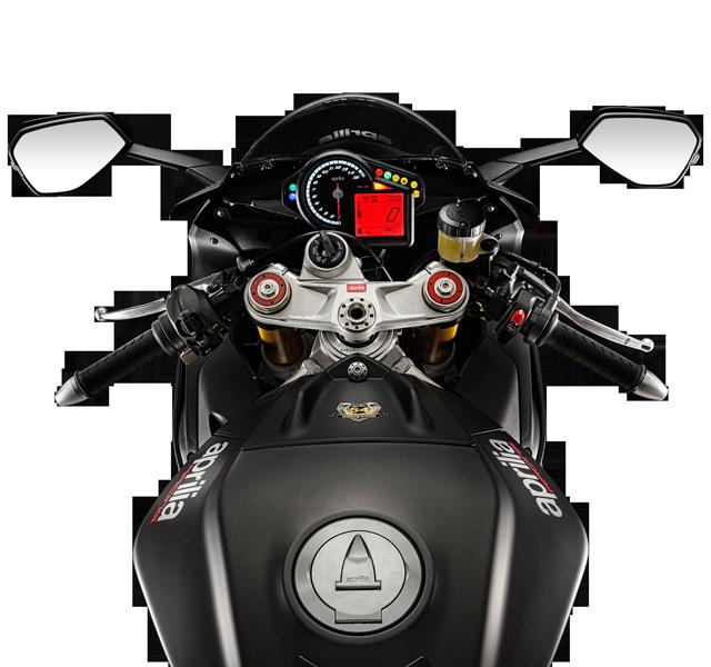 Detalle de tablero EURO4 de Moto RSV4 RR. Marca Aprilia