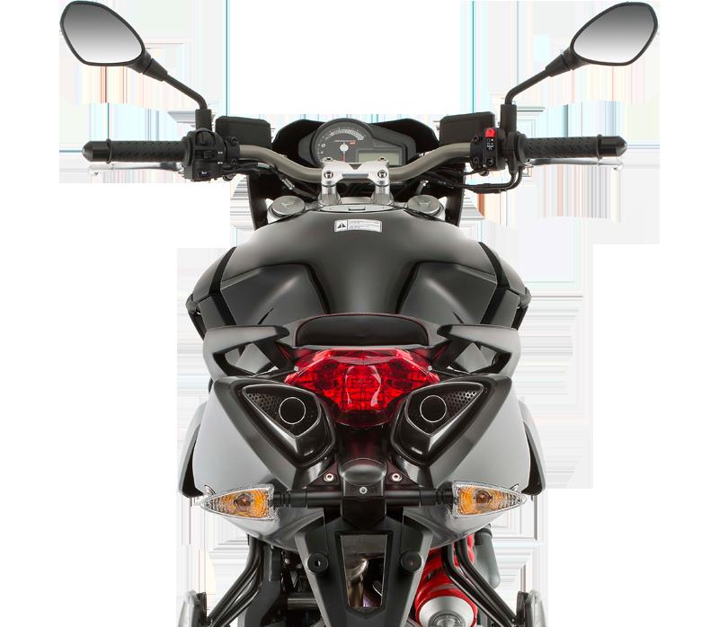 Moto modelo Shiver 750 ABS Motor color rojo y negro, marca Aprilia.Electrónica completamente revisada de Aprilia