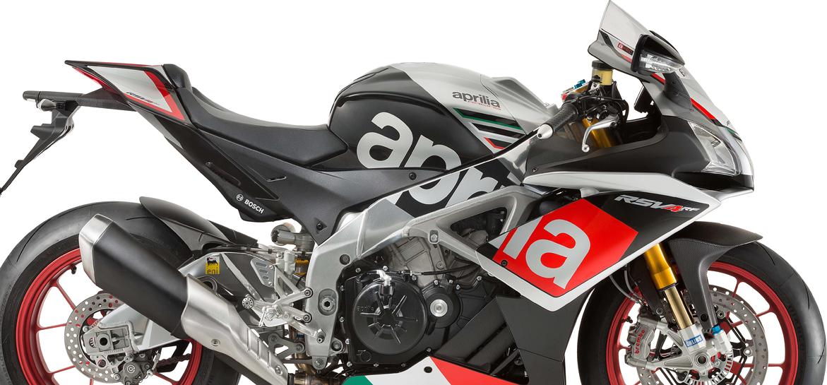 Moto Aprilia RSV4 RF con telemetría