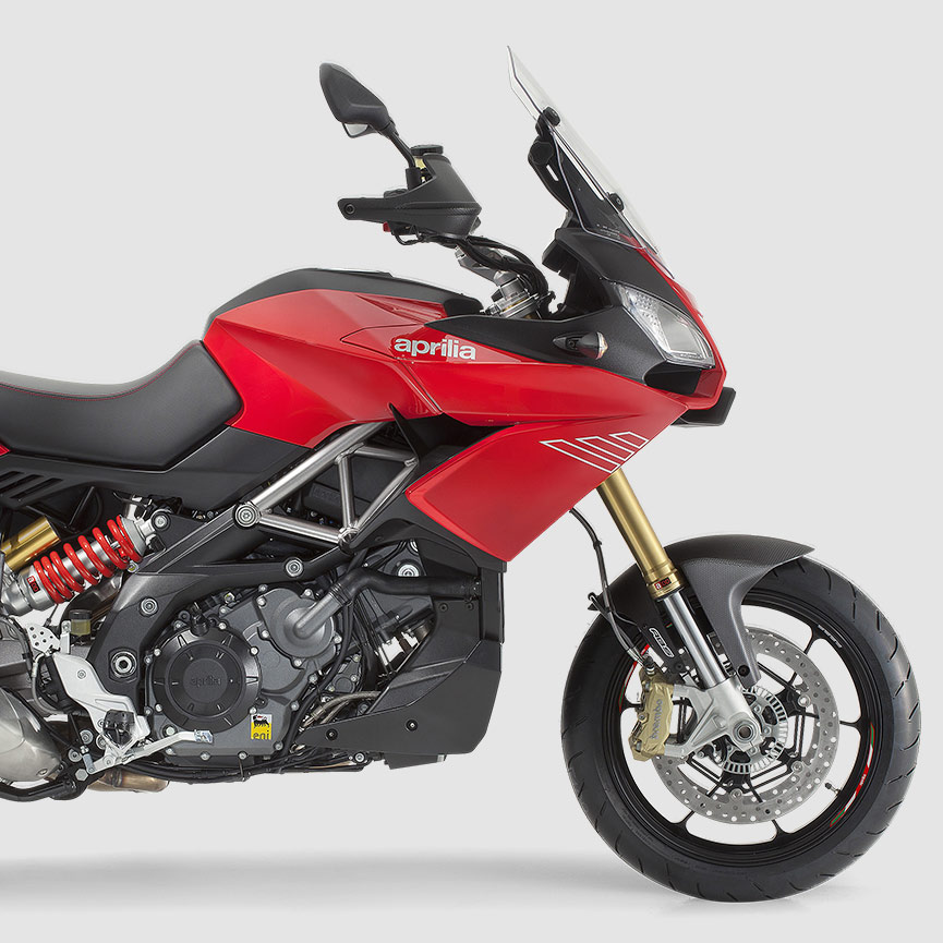 Moto con Tecnología A-MP de Aprilia