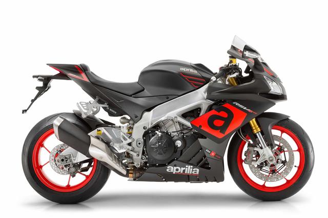 Moto Aprilia RSV4 RR color negro